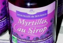 Les myrtilles au sirop, myrtilles de Bournos