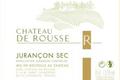 Château de ROUSSE Jurançon SEC