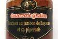 conserverie Gratien, Saucisses au jambon de Bayonne et sa piperade