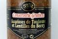 conserverie Gratien, Saucisses de Toulouse et Lentilles du Berry