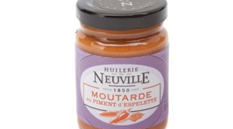 Huilerie de Neuville,  Moutarde au Piment d'Espelette