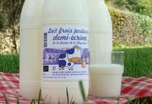 ferme de la Fayaudrie, Lait pasteurisé 1/2 écrémé BIO (1 litre)