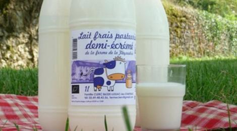 Ferme de la Fayaudrie, Lait pasteurisé entier BIO (1 litre)