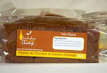 Pain d'épices aux pépites de chocolat et écorces d'oranges confites