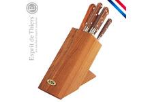 Bloc hêtre avec set de 6 couteaux pro label - Le Prince gastronome