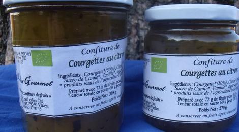 Confiture de Courgettes au citron