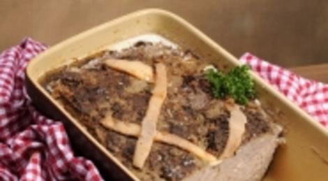 Terrine de foie de porc cuite au four