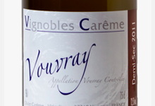 vignoble Carême, Vouvray Demi - Sec