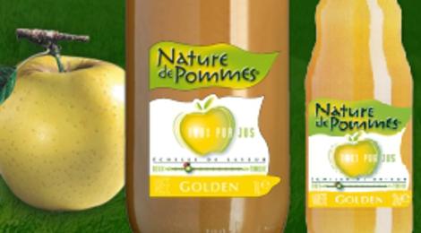 Jus de pomme golden