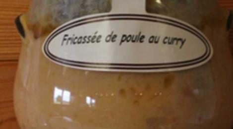 Fricassée de poule au curry, Ferme des Parrichets