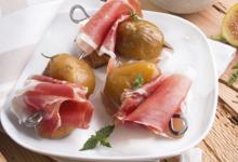 Bruschettas de figues caramélisées et Jambon de Parme