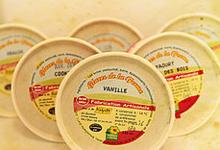 Ferme de la Gautraie, petits pots de glace au lait frais