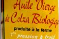 huile vierge de colza biologique