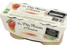 Dessert d'avoine bio parfum mangue