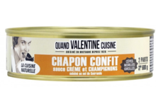 Chapon confit sauce crème et champignons