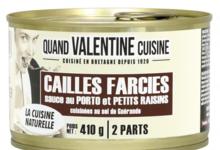 Cailles farcies sauce au porto et ses petits raisins