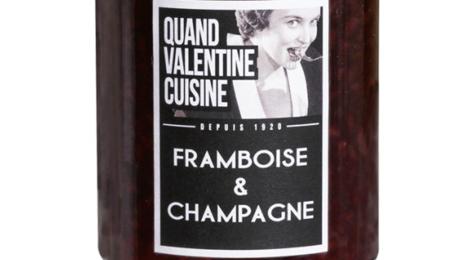 Confiture framboise champagne