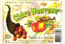cidrerie Vallée de la Seiche, cidre nouveau