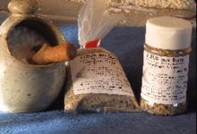 Saline de Lacüestan, fleur de sel aux baies