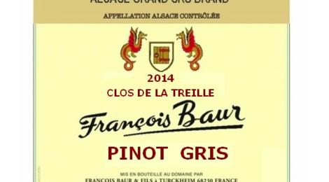 françois Baur, Pinot Gris treille