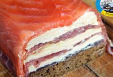Marbré de saumon fumé et foie gras