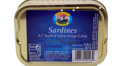 bourgain et Fils, Sardines à l'huile d'olives extra
