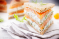 Mini club sandwich au saumon