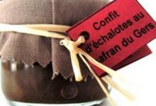 Confit d'échalotes au safran