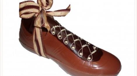 Albert chocolatier, Chaussure de foot, 31cm, lait