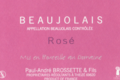 domaine Brossette, beaujolais rosé empreinte