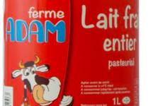 ferme Adam, lait frais entier