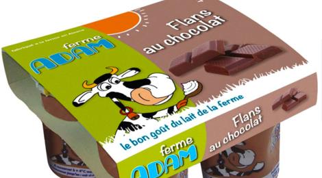 ferme Adam, flan au chocolat