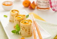 Makis de crêpes à la Confiture Abricots-Pêches Bonne Maman