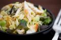 Salade d'avoines bio au poulet sauce moutarde