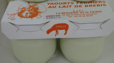 bergerie de Saint-pierre, yaourt au lait de brebis à la vanille