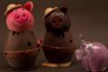 Chocolaterie Artisanale des Bauges, cochons en chocolat