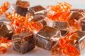 Nougat tendre aux amandes chocolat lait aromatisé à l'orange