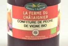 La Ferme Du Chataignier, confiture de pêche de vigne