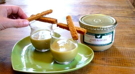 ferme de Ramon, velouté au foie gras