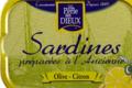 La perle des dieux, Sardines à l' huile d'olive vierge extra et citron