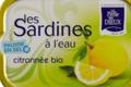 Sardines à l'eau citronnée Bio