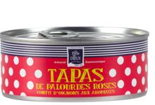 Tapas de palourdes roses confit d'oignons aux aromates