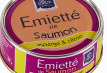 Emietté de saumon asperge et citron