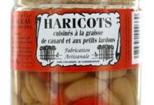 Haricots Cuisinés à la graisse de canard et aux petits lardons.