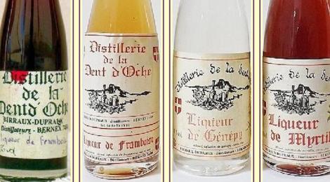 Distillerie de la Dent d'Oche , liqueur de myrtille