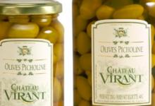 château Virant, Olives vertes Picholines