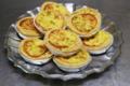 Tarte fine au poulet curry et moutarde