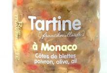 Rue Traversette, tartine à Monaco, côtes de blette, poivron, olive, ail