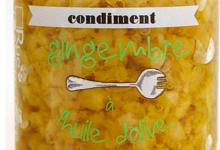 gingembre confit à l'huile d'olive