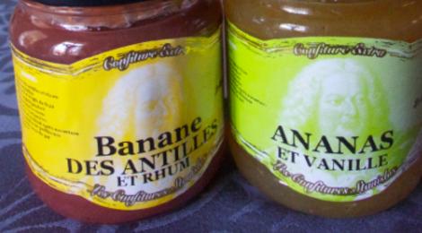 les confitures de Stanislas, Bananes des antilles et rhum